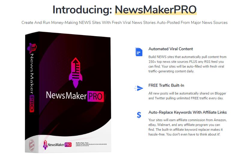 NewsMakerPRO Plugin + OTO Review by Igor Burban