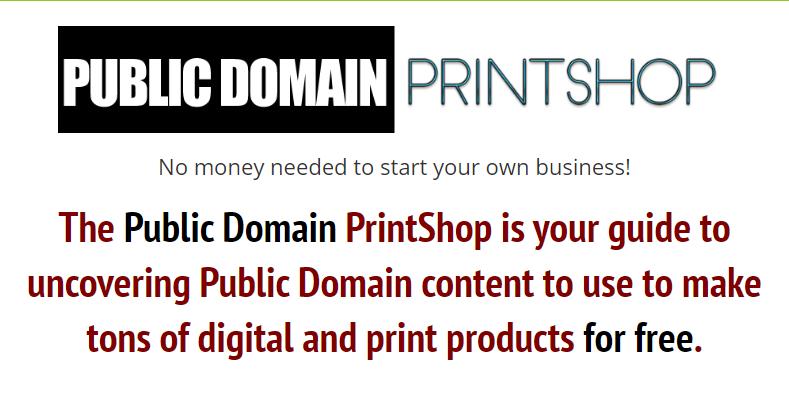 Public Domain PrintShop by Kurt WSO