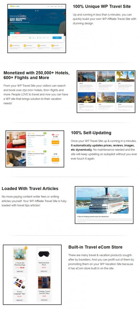 WP Travel Site V1 & OTO Upsell by BCBiz