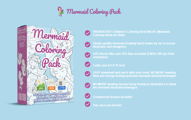 Mermaid Coloring Pack + OTO by PixelCrafter
