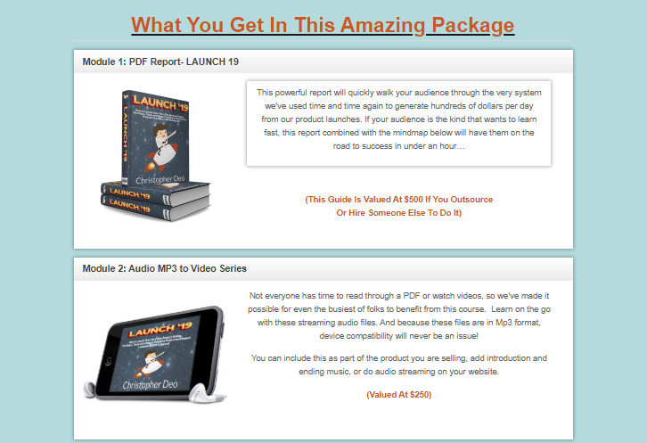LAUNCH 19 PLR + OTO by Christopher Deo