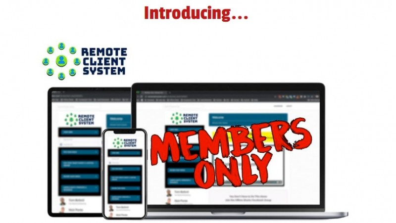 REMOTE CLIENT SYSTEM OTO & Upsell by Nick Ponte Review - Simple Profit System How former auto tech with no previous experience was able to quickly grow his agency to $8k a month without targeting any clients in his local area 1