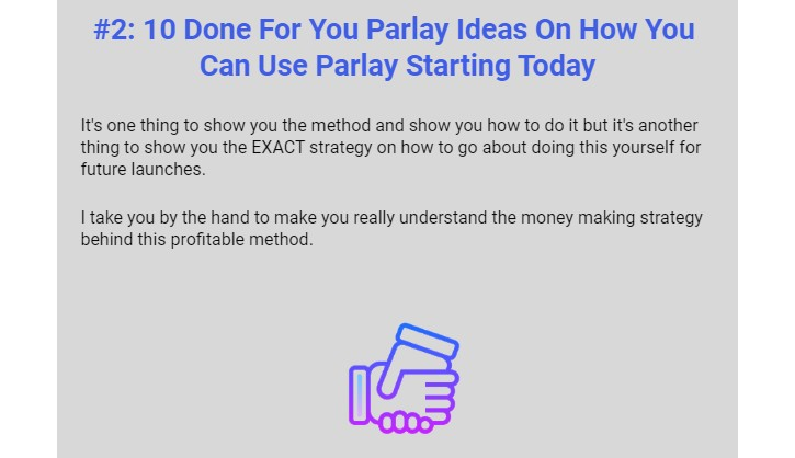 Parlay Training OTO & Upsell by Debbie Drum