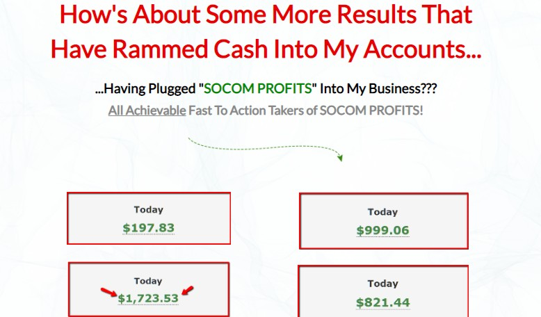 Socom Profits Training OTO & Upsell by David Fearon