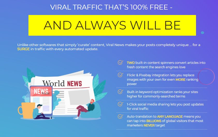 Viral News Jacker OTO & Upsell by Glynn Kosky