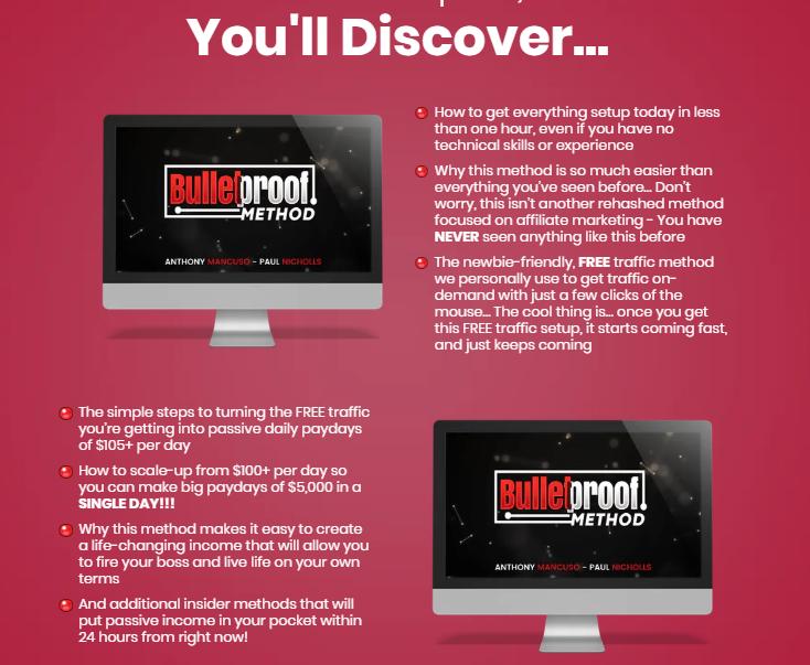 Bulletproof Method OTO & Upsell by Paul Nichols