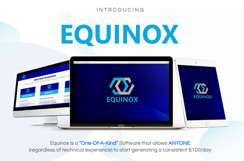 Equinox Software & OTO Upsell by Brendan Mace & Jono Armstrong