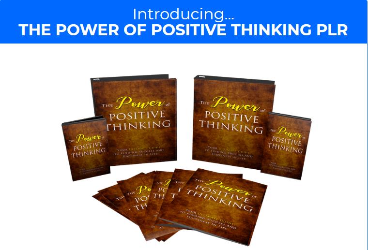 Power Of Positive Thinking PLR & OTO WSO by Yu Shaun