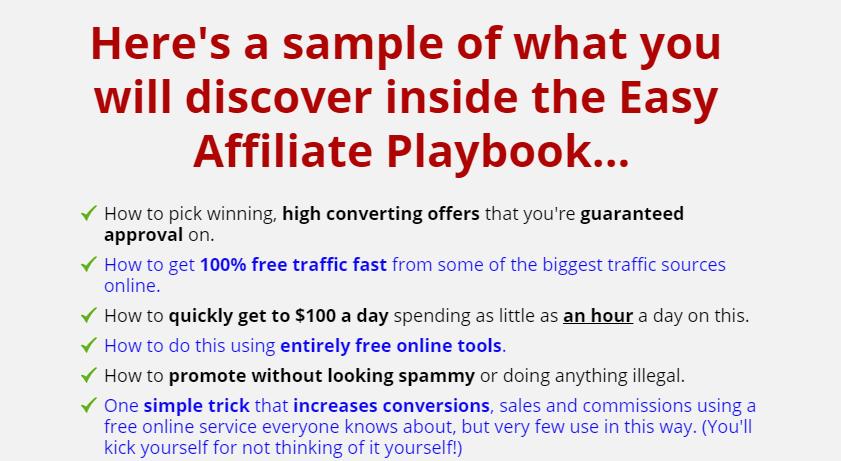 Easy Affiliate Playbook & OTO by Andie Brocklehurst