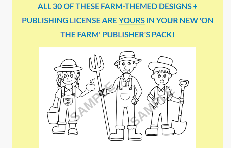 On The Farm Coloring Pack+OTO by Jame B Allen