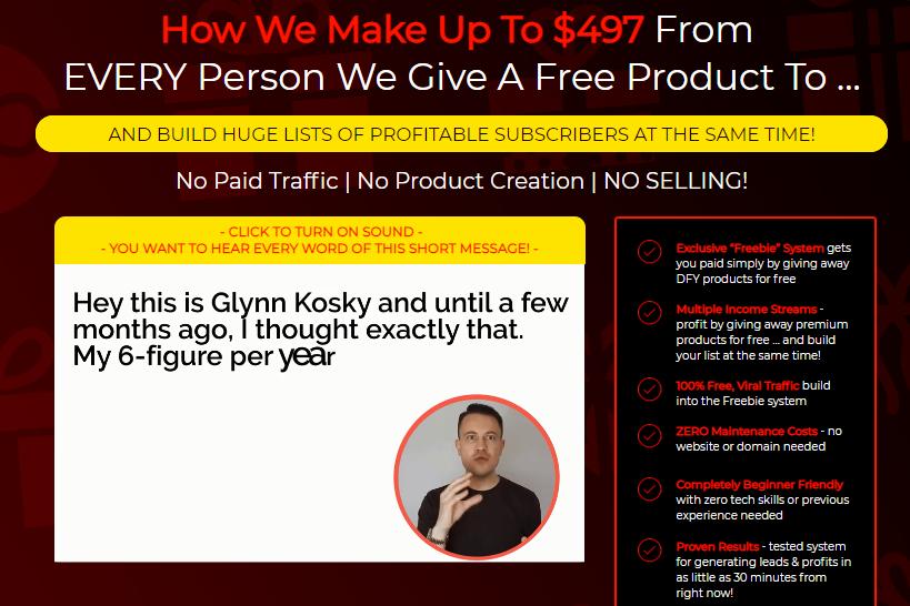 Freebie Commissions PRO+OTO Upsell by Glynn Kosky