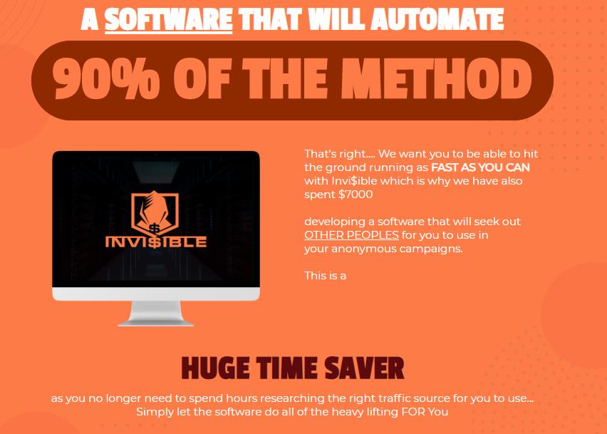 Invi$ible Software Training & OTO Upsell by Jono Amstrong & Brendan Mace