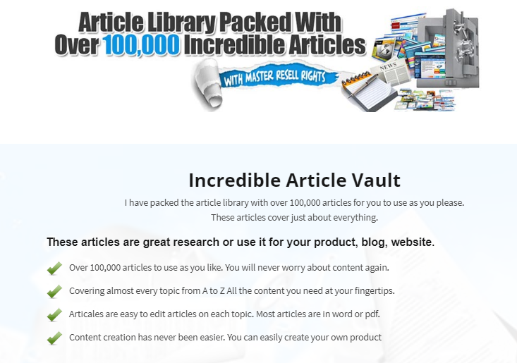 Resell Rights Vault & OTO Upsell by John Johns