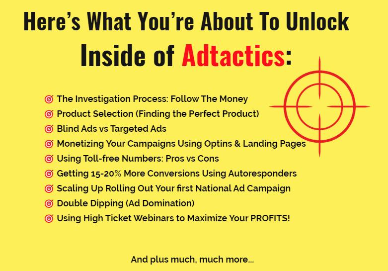 Adtactics Training & OTO Upsell by Lance Groom