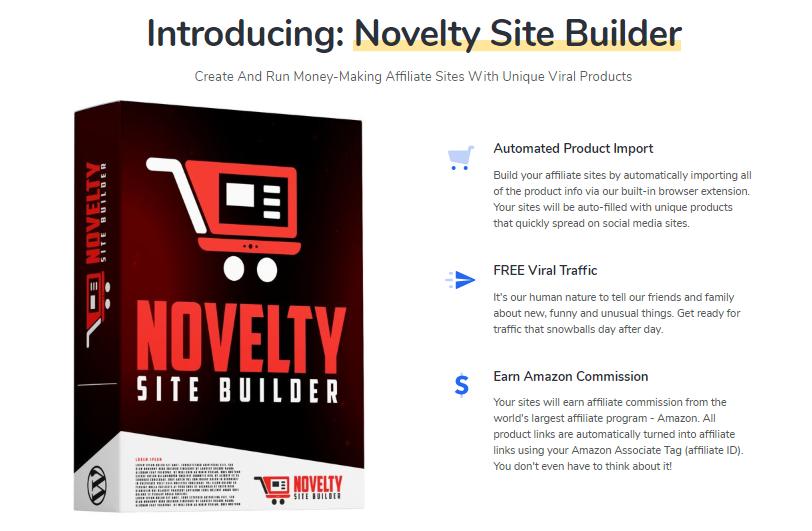 Novelty Site Builder & OTO by Igor Burban