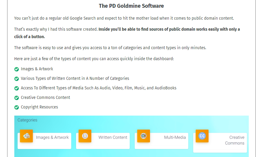 PD Goldmine Software & OTO Upsell by Amy Harrop