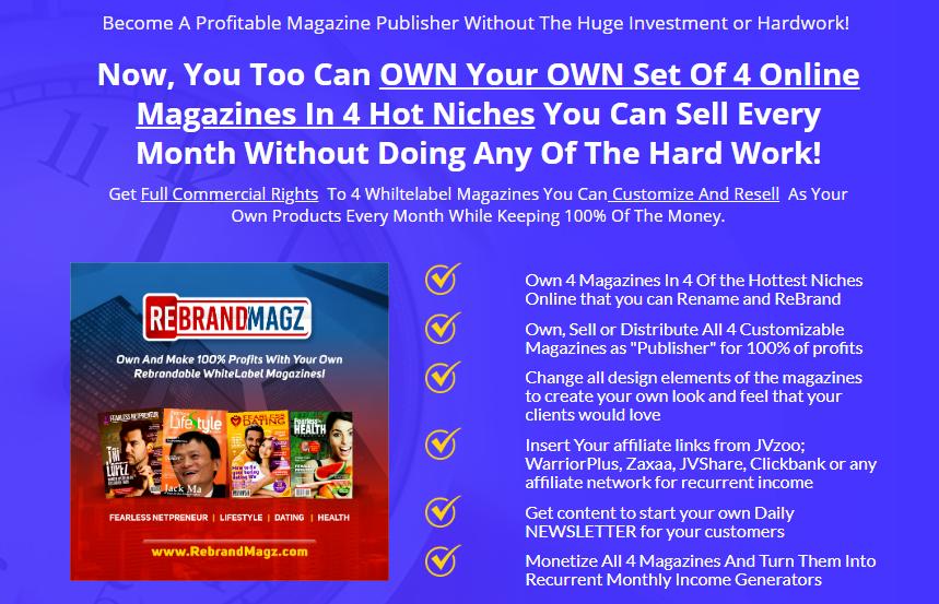 RebrandMagz WhiteLabel Magazines & OTO by Ope Banwo