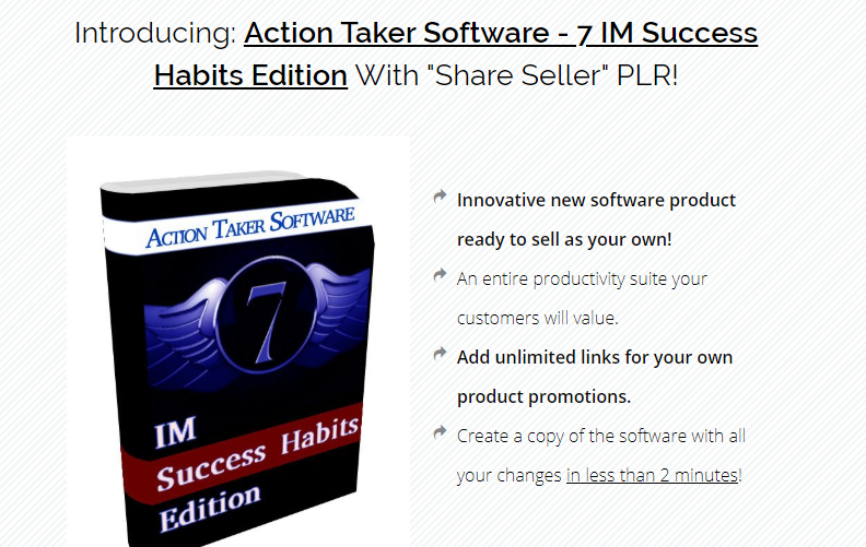 Action Taker Software 7 IM Success Habits Edition & OTO by Joan Altres