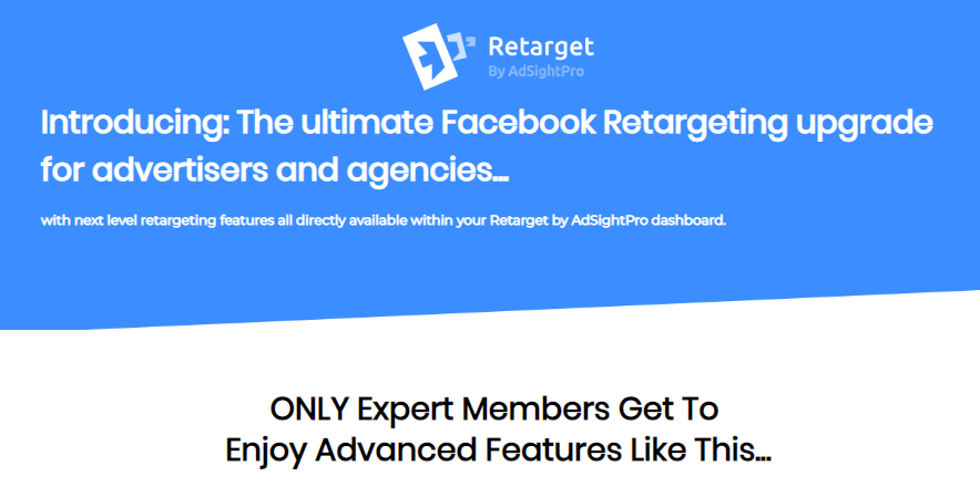 Retarget PRO Version Upgrade OTO & Upsell by Sam Bakker