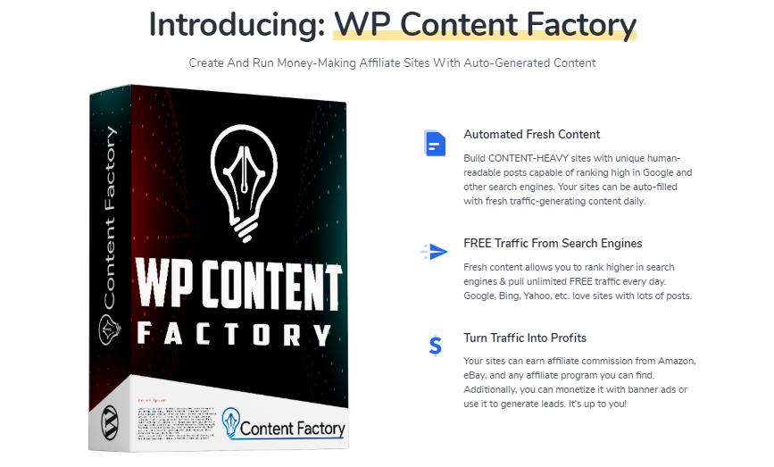 WP Content Factory Plugin & OTO by Igor Burban