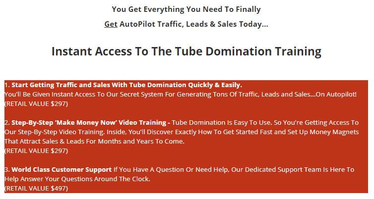 Tube Domination System & OTO by Manny Hanif