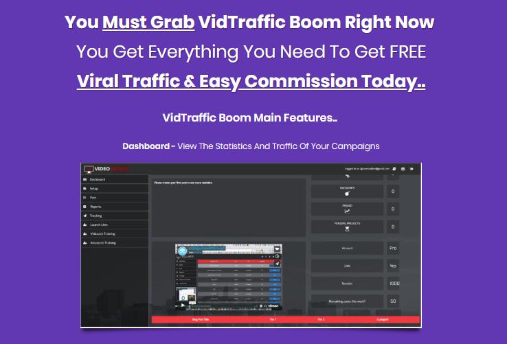 Vidtraffic Boom Software & OTO by OJ James