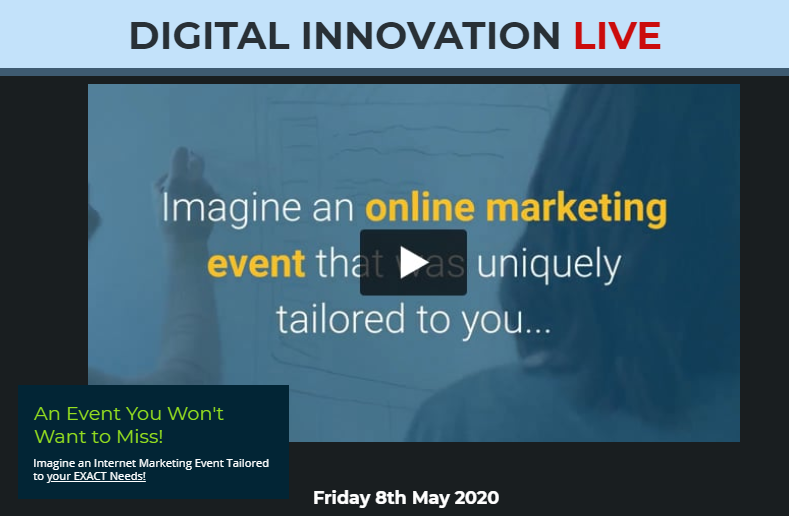 Digital Innovation Live & OTO by Curt Crowley