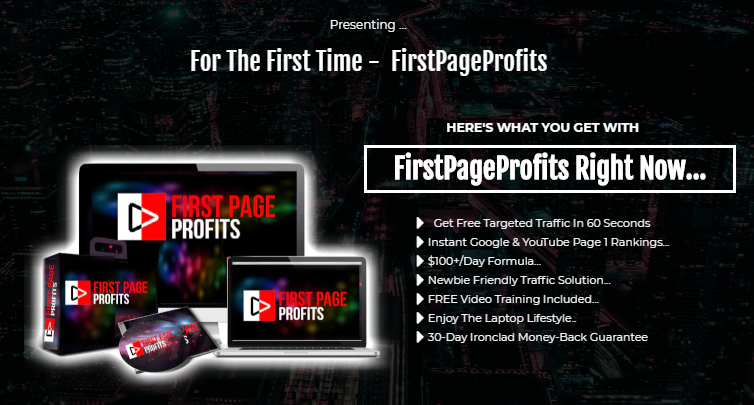 First Page Profit Software & OTO by Vick Carty