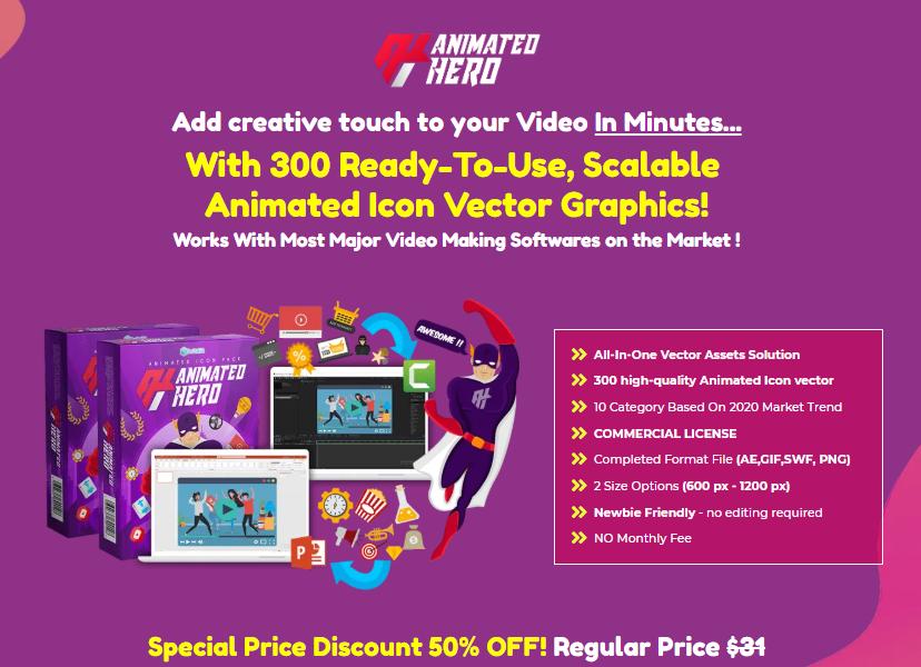Animated Hero Bundle & OTO by Anugerah S