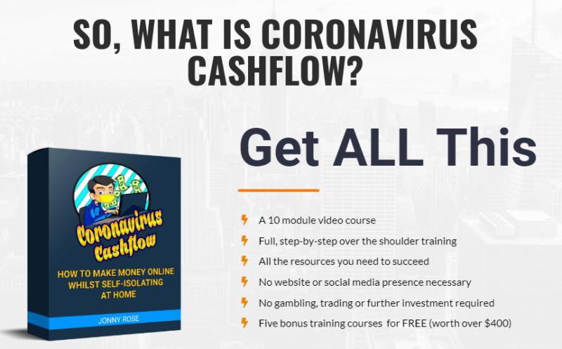 Coronavirus Cashflow & OTO by Jonny Rose