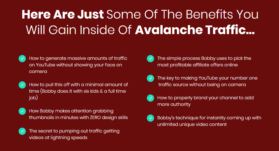 Avalanche Traffic Training & OTO by Bobby Dolcee