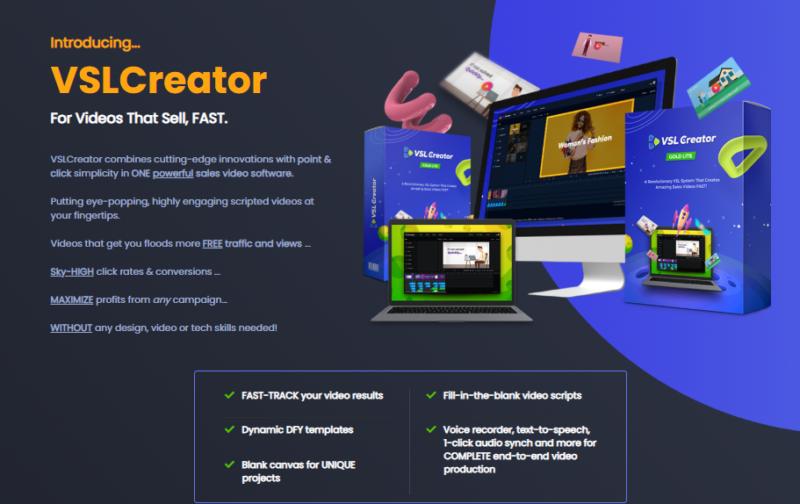 VSL Creator Software & OTO by Brett Ingram