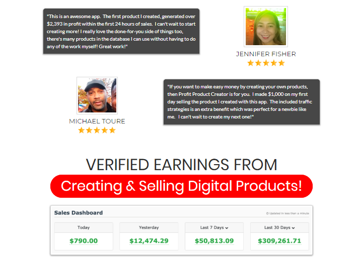 Profit Product Creator Software System & OTO by Glynn Kosky