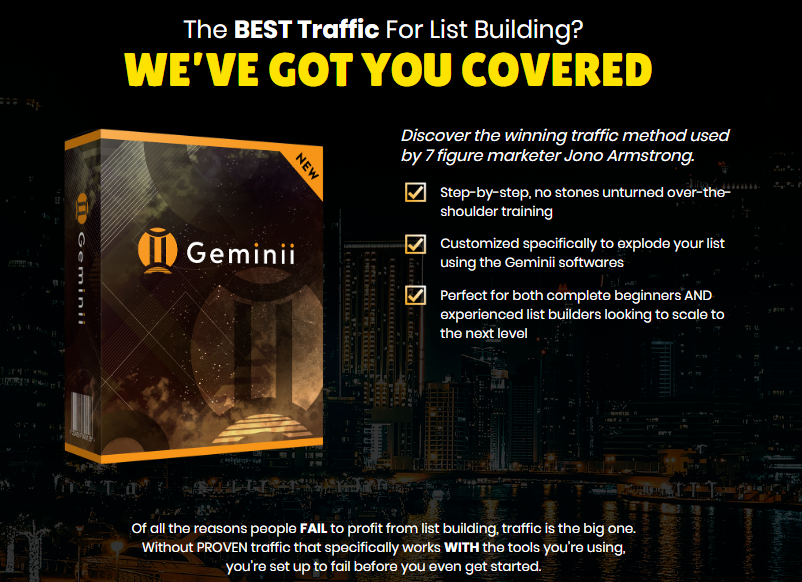 Geminii Software & OTO by Jono Amstrong