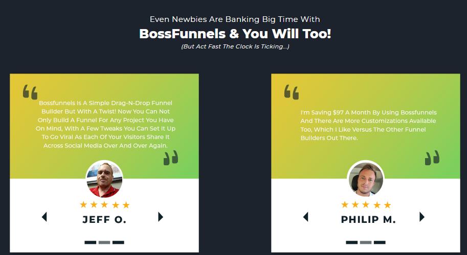 BossFunnels Software & OTO by David Kirby