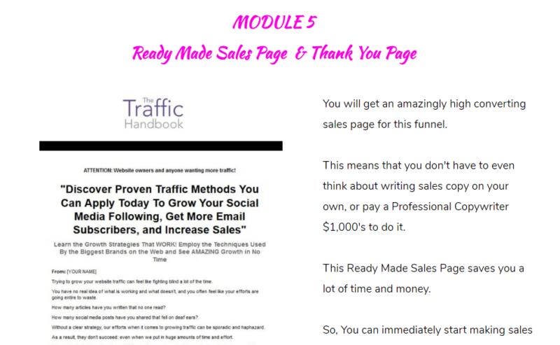 The Traffic Handbook DFY Sales Funnel PLR & OTO by Richie Scott