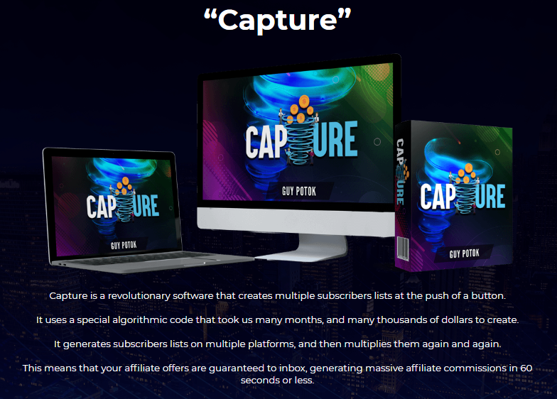 Capture PRO Software & OTO by Guy Potok