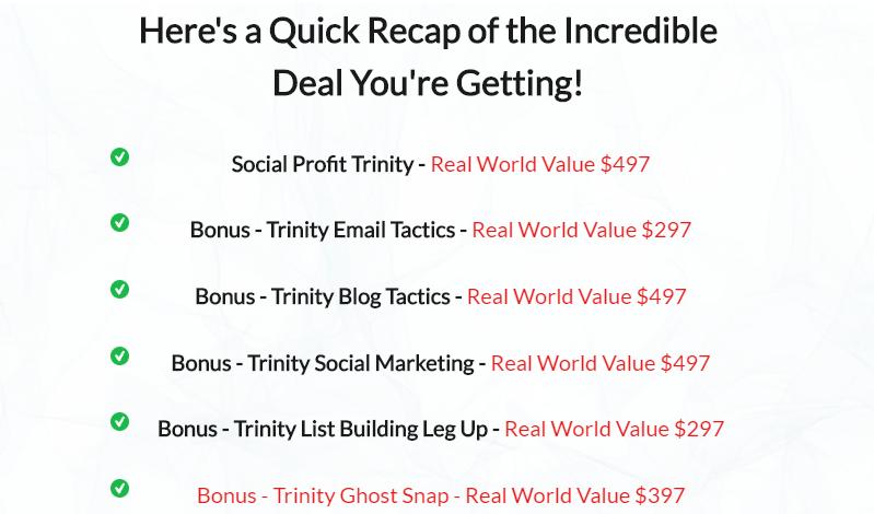 Social Profit Trinity & OTO by David Fearon