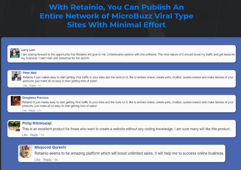 Retainio Software & OTO by Karthik Ramani