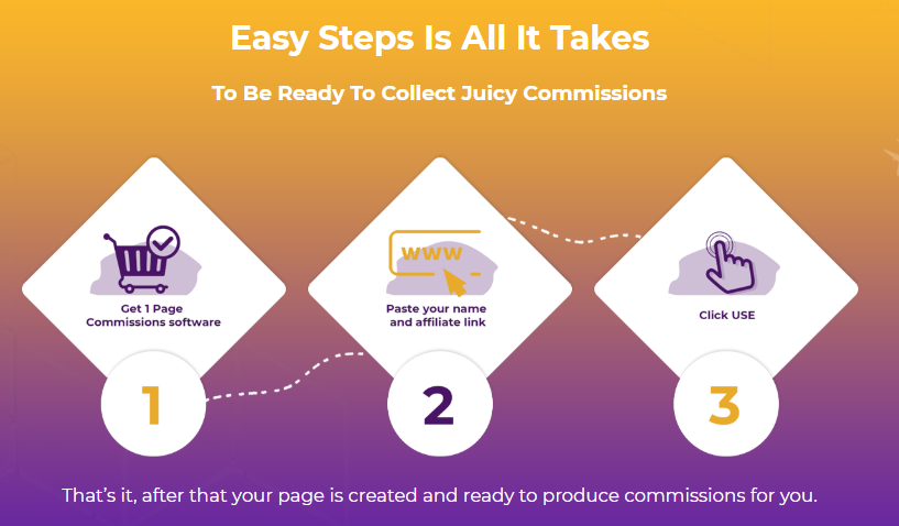 1 Page Commissions App & OTO by Andrew Darius