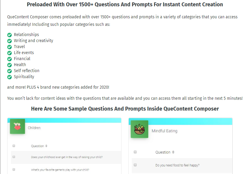 QueContent Composer App & OTO by Amy Harrop