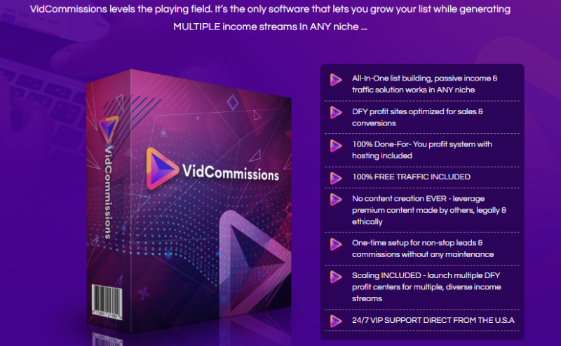 VidCommissions Software & OTO Review by Glynn Kosky
