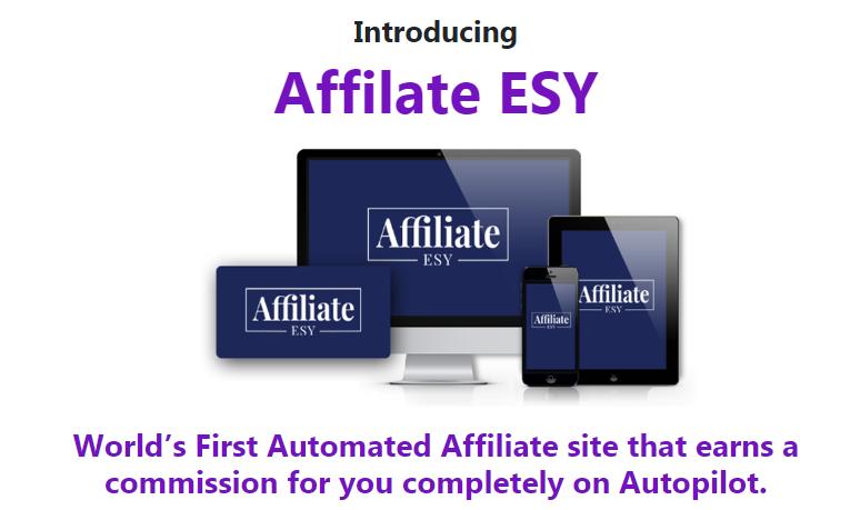 AffiliateESY Software & OTO by Uddhab Pramanik
