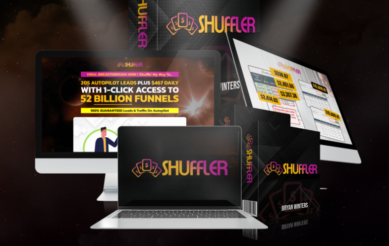 Shuffler Funnel Software & OTO Review by Bryan Winters - New exclusive viral funnel builder with 100% unique ready to rock funnel templates and built-in stealth mechanics proven to literally multiply free leads, free traffic, and free commissions on autopilot
