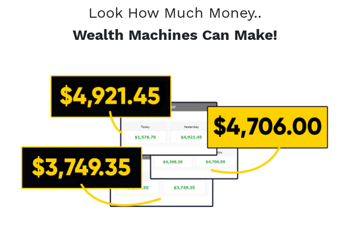 Wealth Machines System & OTO by Art Flair