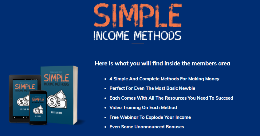 Simple Income Methods & OTO by Ryan Mac