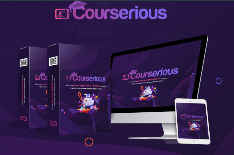 Courserious PRO App & OTO Reviews by Eric Holmlund - New Revolutionary eLearning Platform That Lets You Create beautiful and mobile-responsive academic sites & Sell Unlimited Courses Online With Just A Few Clicks