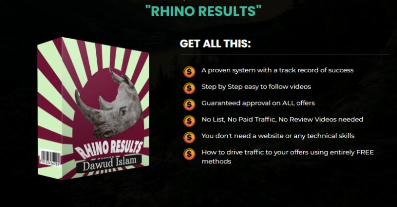 Rhino Results System & OTO by Dawud Islam