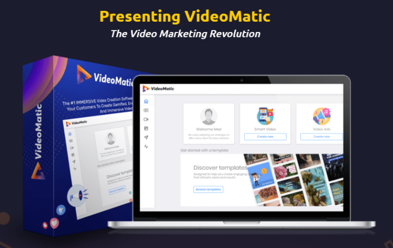 VideoMatic App Software & OTO Review by Victory Akpos - Best Software create unlimited highly immersive sales videos, promotional videos, training videos, product videos, video ads and many more to boost your video marketing campaigns, generating more sales and profits