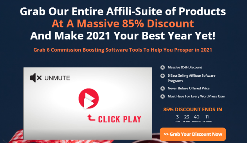 AffiliSuite Holiday Bundle & OTO Review - Grab 6 Best Selling Plugins for One Price 85% Discount of AffiliEcom, AffiliBuilder, AffiliTube, AffiliRocket, AffiliCompare And AffiliReview